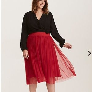 Torrid tulle red skirt plus size